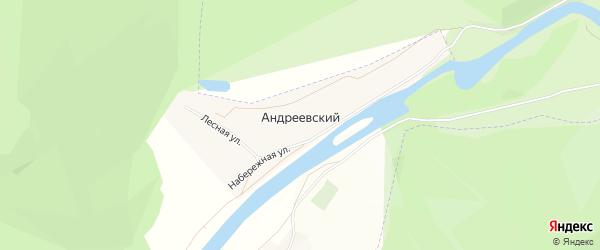Карта Андреевского хутора в Башкортостане с улицами и номерами домов