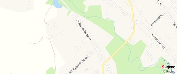 Улица Худайбердина на карте села Юмагузино с номерами домов