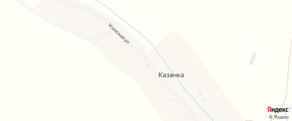 Усинская улица на карте деревни Казанки с номерами домов