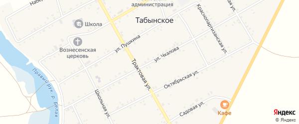 Улица Чкалова на карте Табынского села с номерами домов