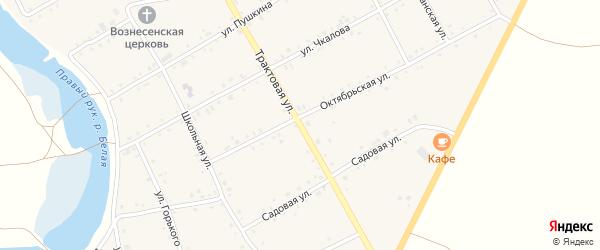 Трактовая улица на карте Табынского села с номерами домов