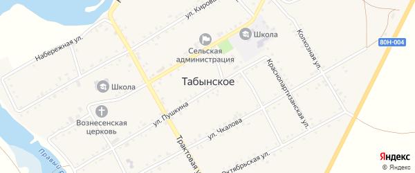 Улица С.Юлаева на карте Табынского села с номерами домов