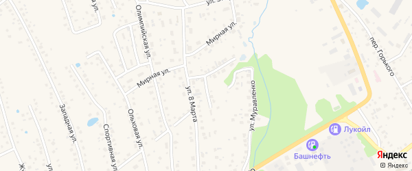 Цветочная улица на карте села Иглино с номерами домов