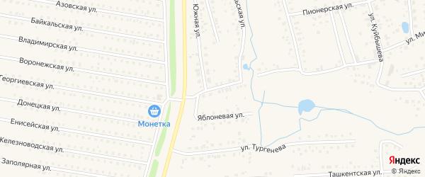 Комсомольский переулок на карте села Иглино с номерами домов