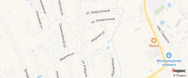 Мирная улица на карте села Иглино с номерами домов