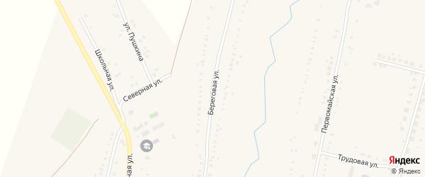 Береговая улица на карте Петровского села с номерами домов