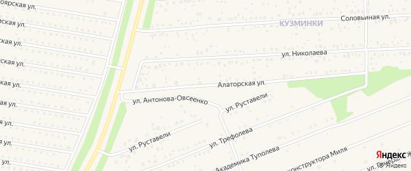 Алаторская улица на карте села Иглино с номерами домов