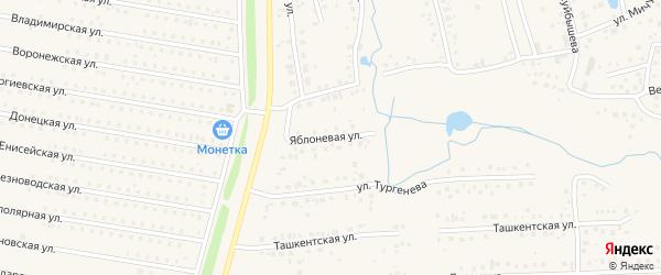 Яблоневая улица на карте села Иглино с номерами домов