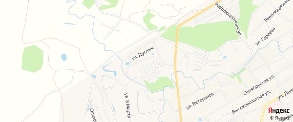 СНТ Дуслык на карте Иглинского района с номерами домов
