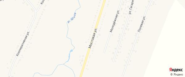 Мостовая улица на карте Петровского села с номерами домов