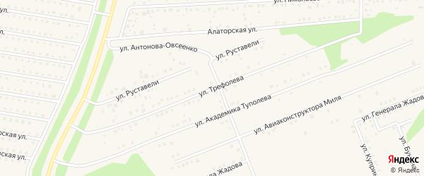 Улица Трефолева на карте села Иглино с номерами домов