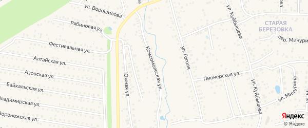 Комсомольская улица на карте села Иглино с номерами домов