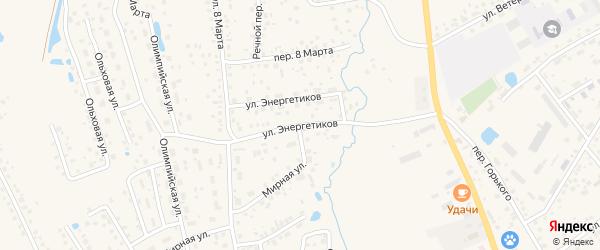Улица Энергетиков на карте села Иглино с номерами домов