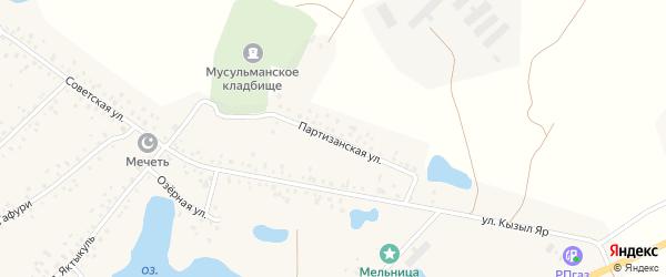 Партизанская улица на карте деревни Сахаево с номерами домов