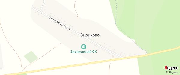 Центральная улица на карте деревни Зириково с номерами домов