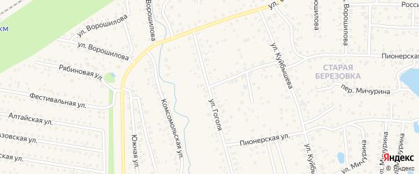 Улица Гоголя на карте села Иглино с номерами домов