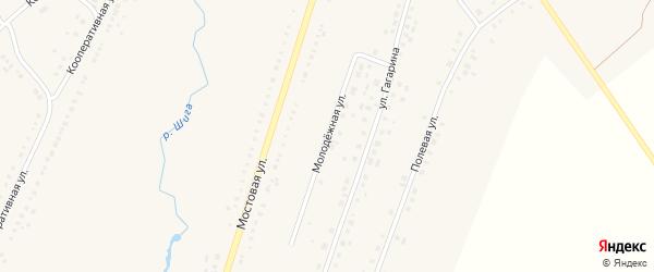 Молодёжная улица на карте Петровского села с номерами домов