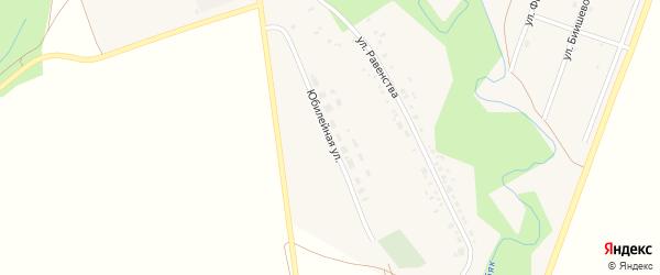Юбилейная улица на карте села Юмагузино с номерами домов