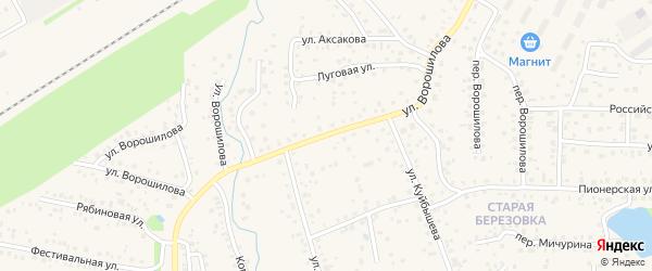 Улица Ворошилова на карте села Иглино с номерами домов
