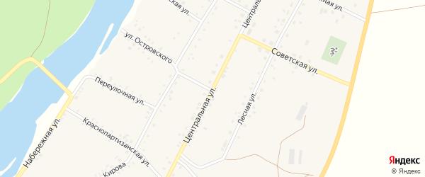 Центральная улица на карте Табынского села с номерами домов