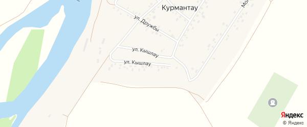 Улица Кышлау на карте села Курмантау с номерами домов