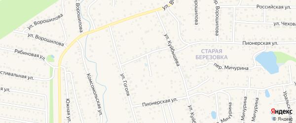 Переулок Куйбышева на карте села Иглино с номерами домов