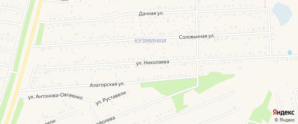 Улица Николаева на карте села Иглино с номерами домов