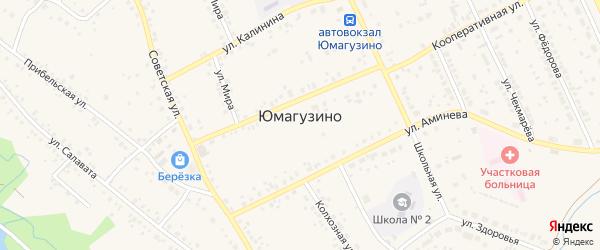 Набережная улица на карте села Юмагузино с номерами домов