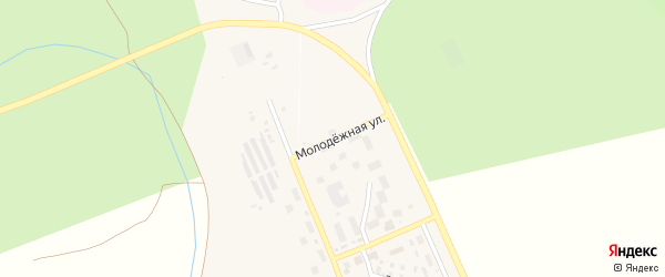Молодежная улица на карте села Юмагузино с номерами домов
