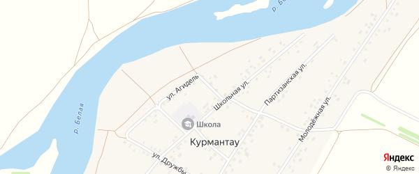 Магазинная улица на карте села Курмантау с номерами домов