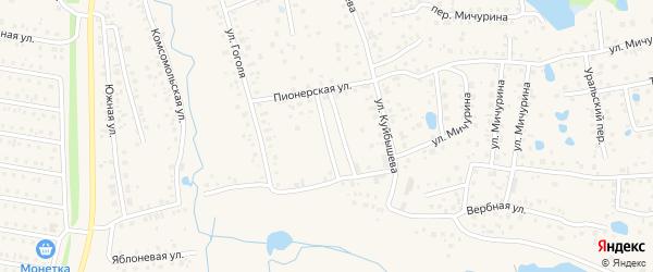Молодежная улица на карте села Иглино с номерами домов
