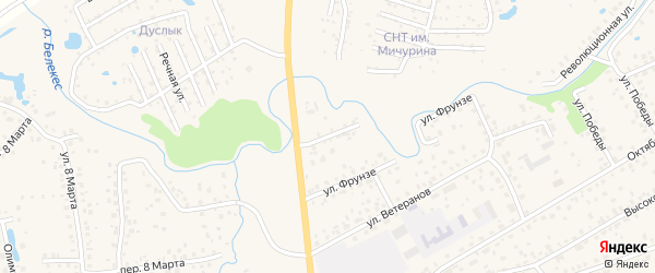 Улица Космонавтов на карте села Иглино с номерами домов