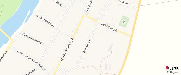 Лесная улица на карте Табынского села с номерами домов