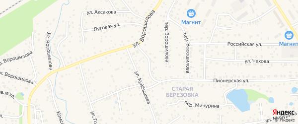 Пионерский переулок на карте села Иглино с номерами домов