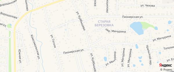 Улица Куйбышева на карте села Иглино с номерами домов