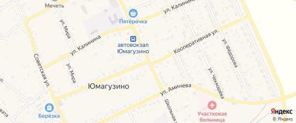 Кооперативная улица на карте села Юмагузино с номерами домов