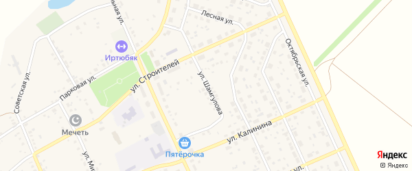 Улица Шамгулова на карте села Юмагузино с номерами домов