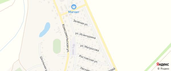 Улица Исянчурина на карте села Юмагузино с номерами домов