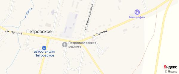 Улица Ленина на карте Петровского села с номерами домов