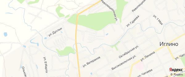 СНТ Мичурина на карте села Иглино с номерами домов