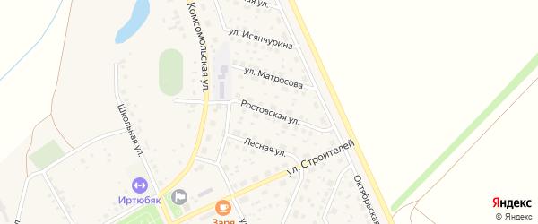 Ростовская улица на карте села Юмагузино с номерами домов