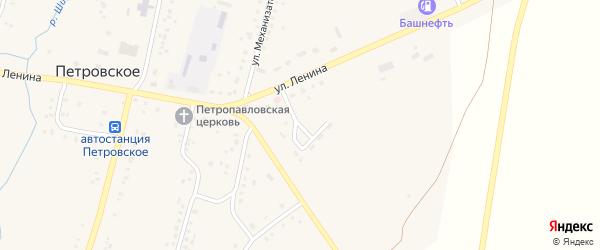 Садовая улица на карте Петровского села с номерами домов