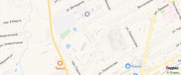 Заводской переулок на карте села Иглино с номерами домов