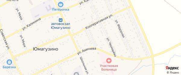 Улица Сайфуллина на карте села Юмагузино с номерами домов
