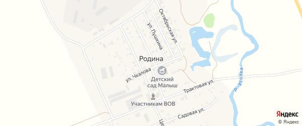Усольская улица на карте села Родиной с номерами домов
