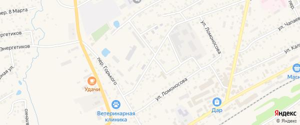 Заводская улица на карте села Иглино с номерами домов