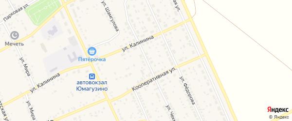 Улица Чекмарева на карте села Юмагузино с номерами домов
