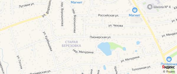 Пионерская улица на карте села Иглино с номерами домов