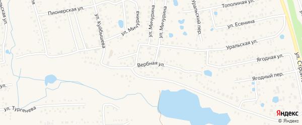 Вербная улица на карте села Иглино с номерами домов
