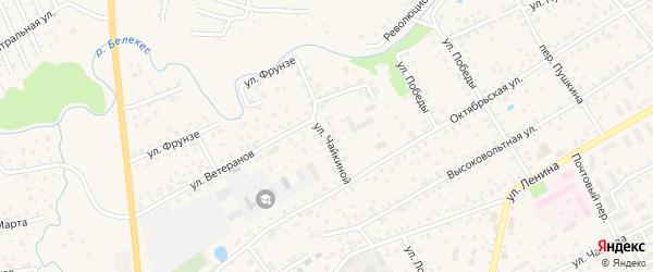 Улица Л.Чайкиной на карте села Иглино с номерами домов